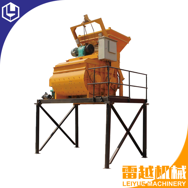 JS750 Twin shaft concrete mixer for automatic block machine